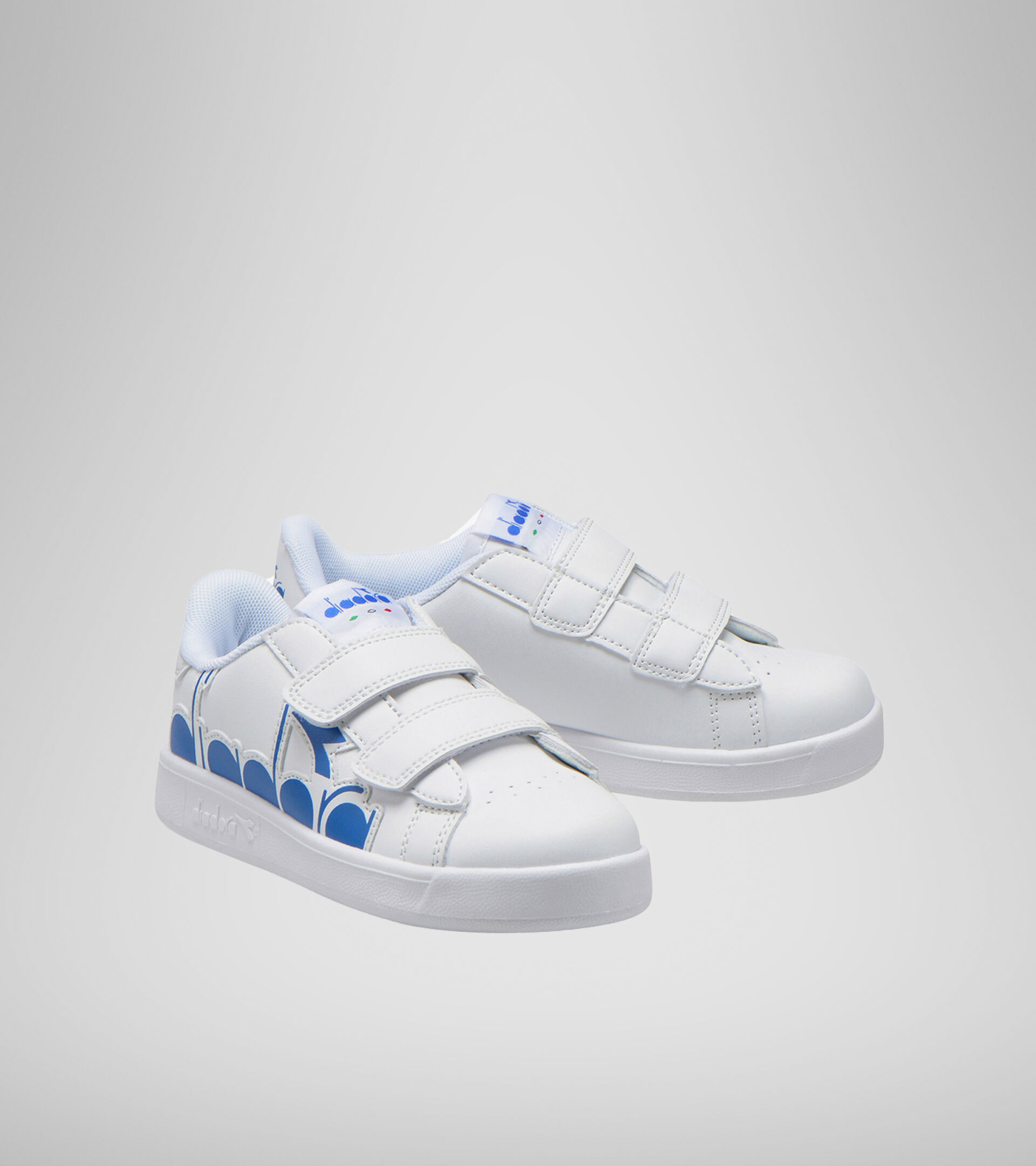 Footwear Sport BAMBINO GAME P BOLDER PS WHITE/MICRO BLUE Diadora