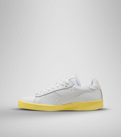Sports shoe -Women GAME L LOW SOLE BLOCK WN WHITE/POPCORN - Diadora