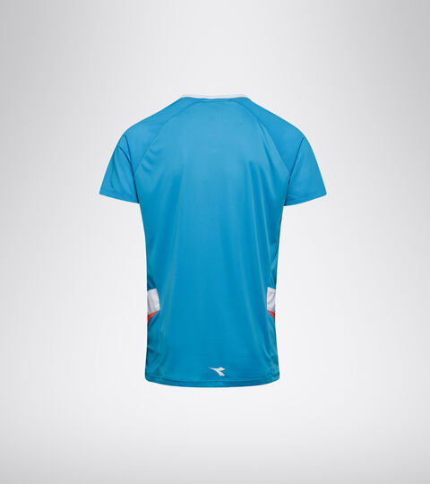 Tennis-T-Shirt - Herren T-SHIRT STRAHLEND CYAN BLAU - Diadora