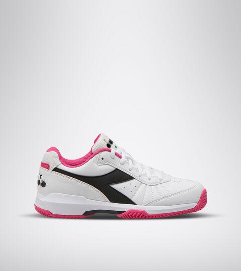 Clay court tennis shoe - Women S. CHALLENGE 3 W SL CLAY WHITE/BLACK/MAGENTA - Diadora