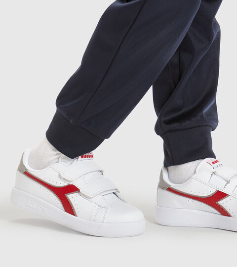 Footwear Sport BAMBINO GAME P PS BIANCO/ROSSO TANGO Diadora