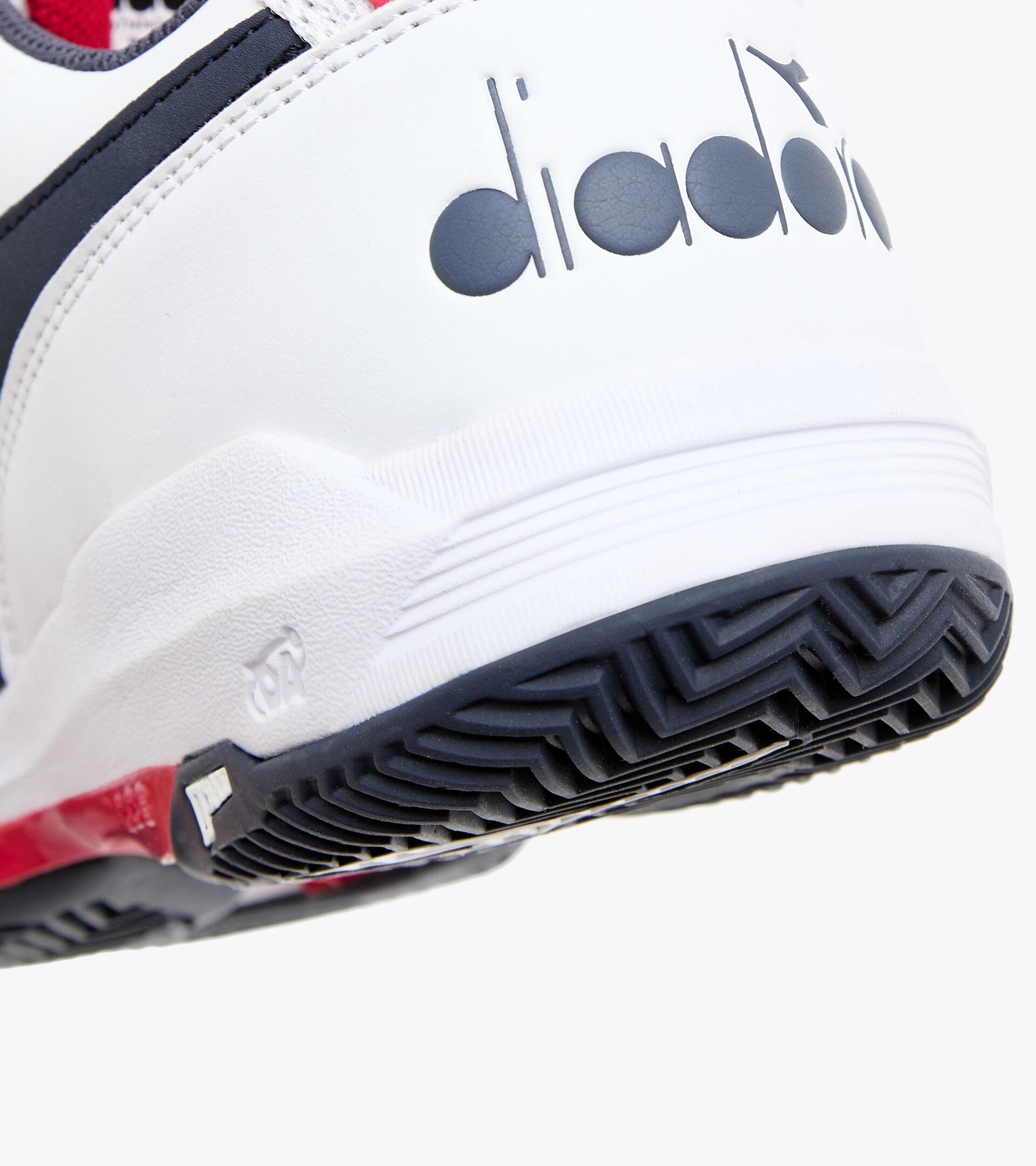 Chaussures de tennis pour terrains en terre battue - Homme S.CHALLENGE 3 SL CLAY BLANC/NOIR IRIS - Diadora