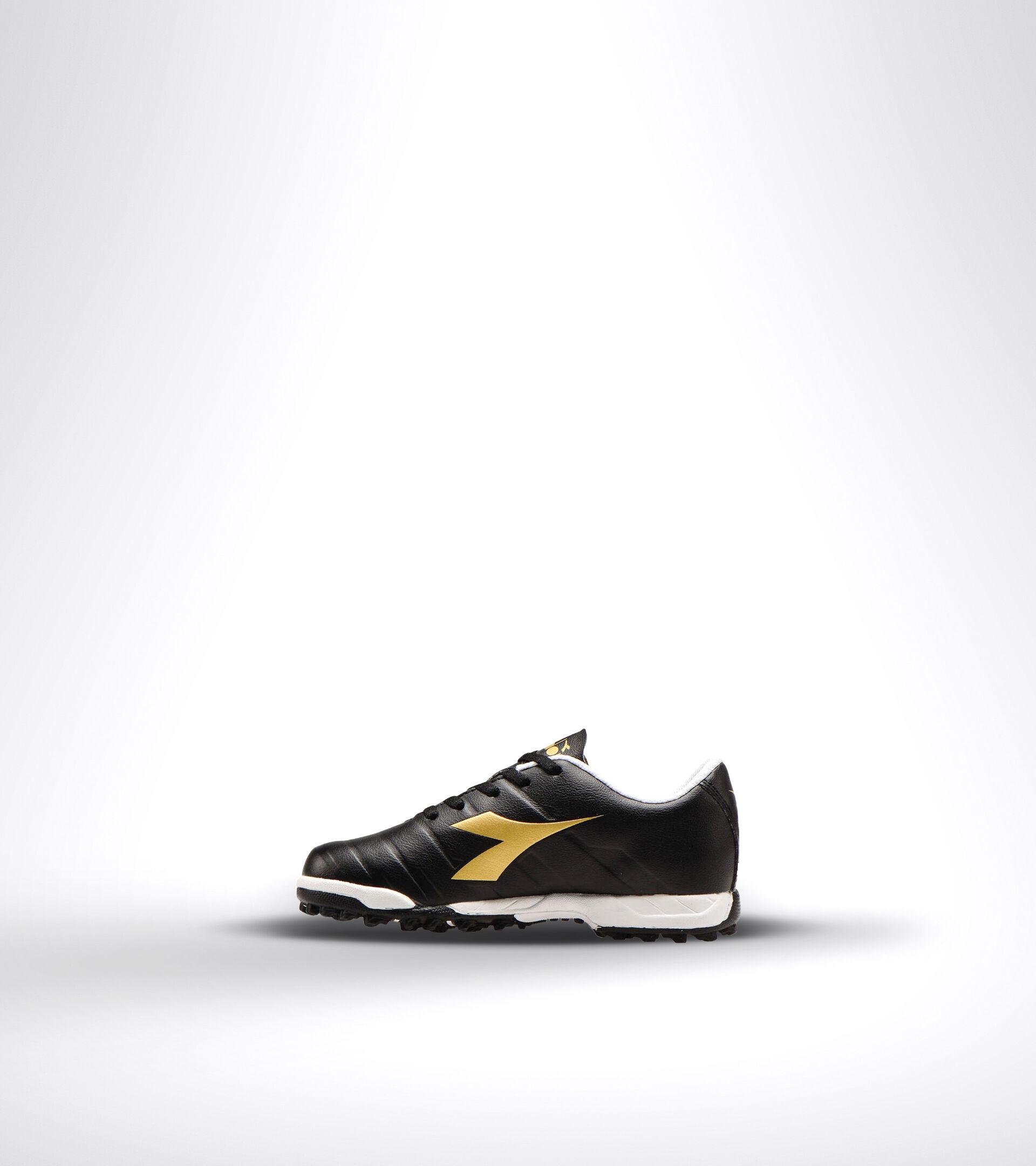 Chaussures de football pour terrains durs ou gazon synthétique - Unisexe Enfant PICHICHI 3 TF JR NOIR/BLANC/OR BRUN - Diadora