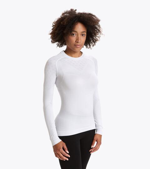 Long-sleeved training t-shirt - Women L. LS T-SHIRT ACT OPTICAL WHITE - Diadora