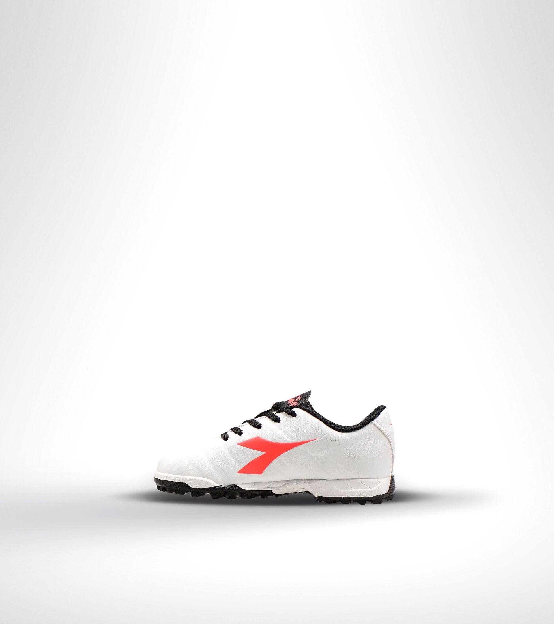 Chaussures de football pour terrains durs ou gazon synthétique - Unisexe Enfant PICHICHI 3 TF JR BIANCO/NERO/ROSSO FLUO - Diadora