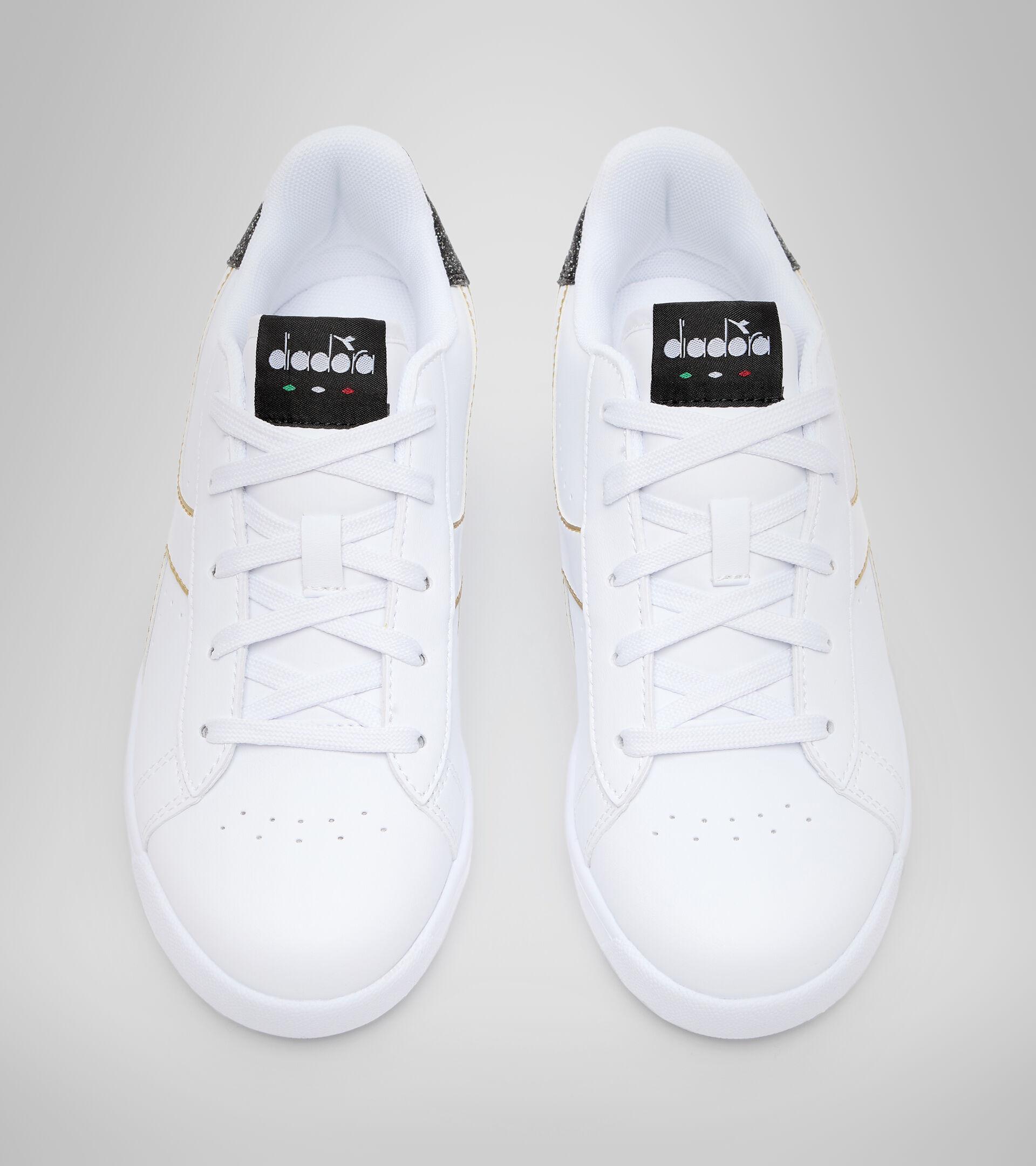 Chaussures de sport - Jeunes 8-16 ans GAME P GS GIRL BIANCO/NERO/ORO - Diadora