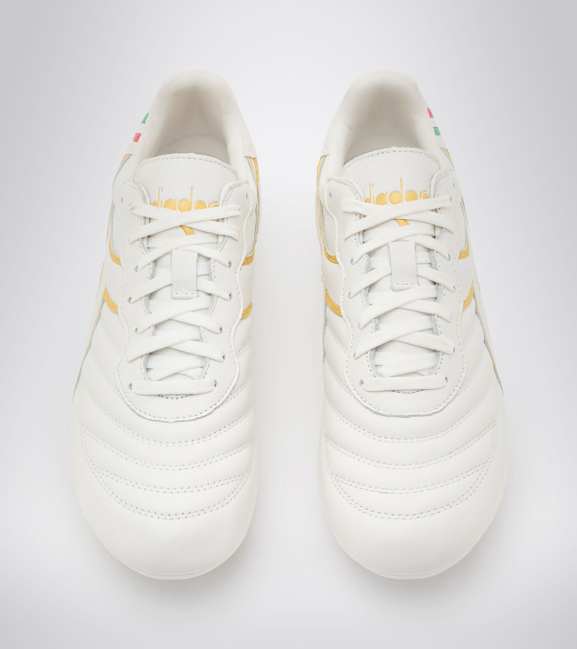 Firm ground football boots BRASIL OG LT+ MDPU WHITE/GOLD - Diadora