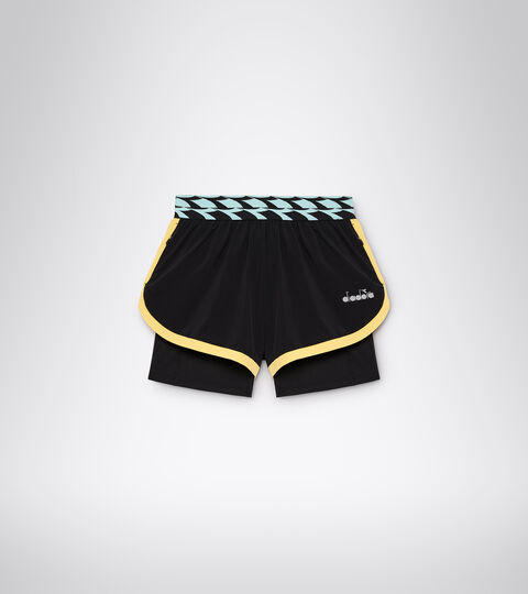 Shorts para correr - Mujer L. DOUBLE LAYER SHORTS NEGRO - Diadora