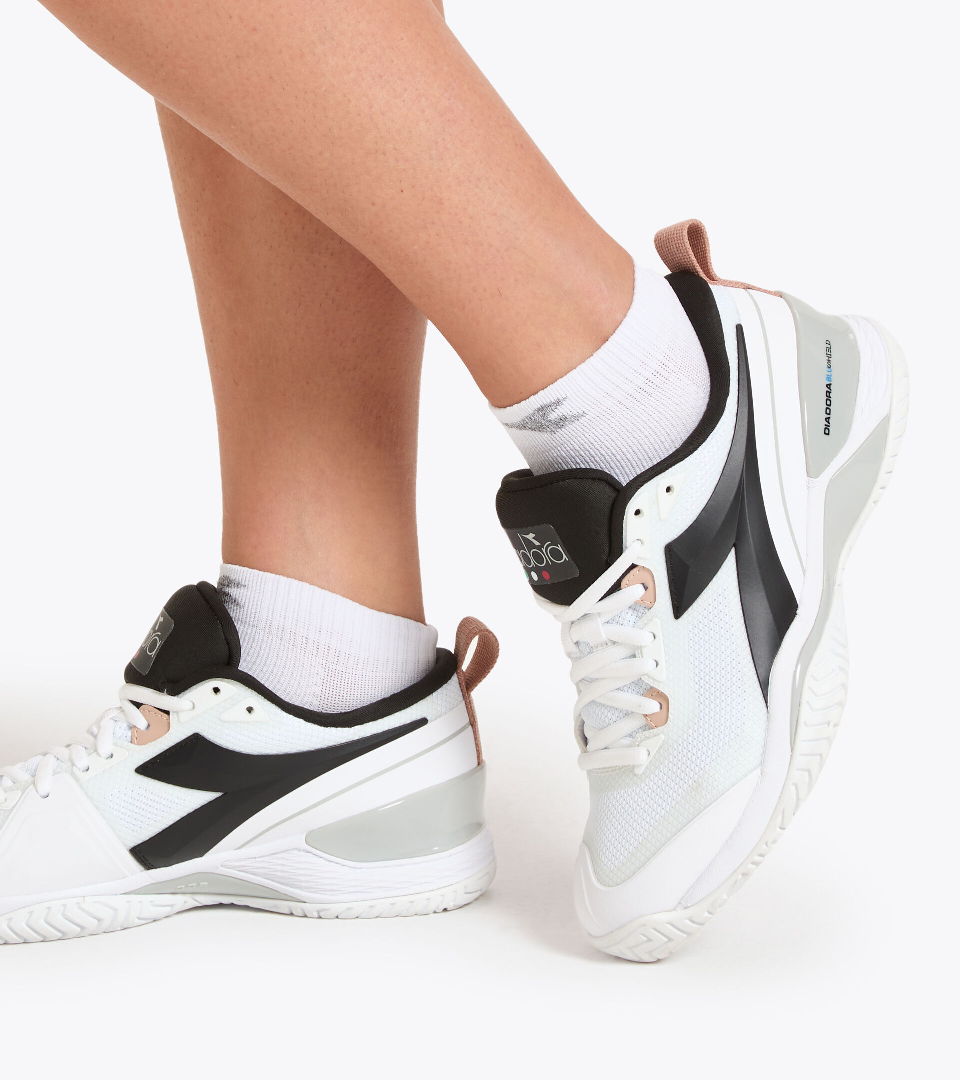 Accessories Sport DONNA L. SOCKS COURT OPTICAL WHITE Diadora