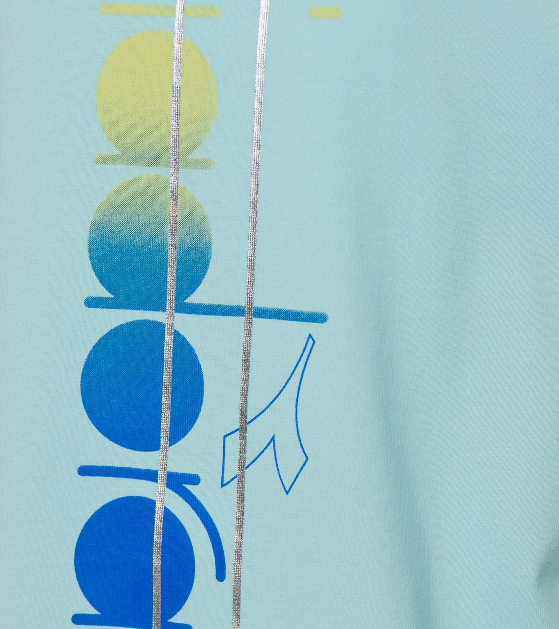 T-shirt - Girls JG. T-SHIRT SS LOGO MANIA TINT BLUE - Diadora