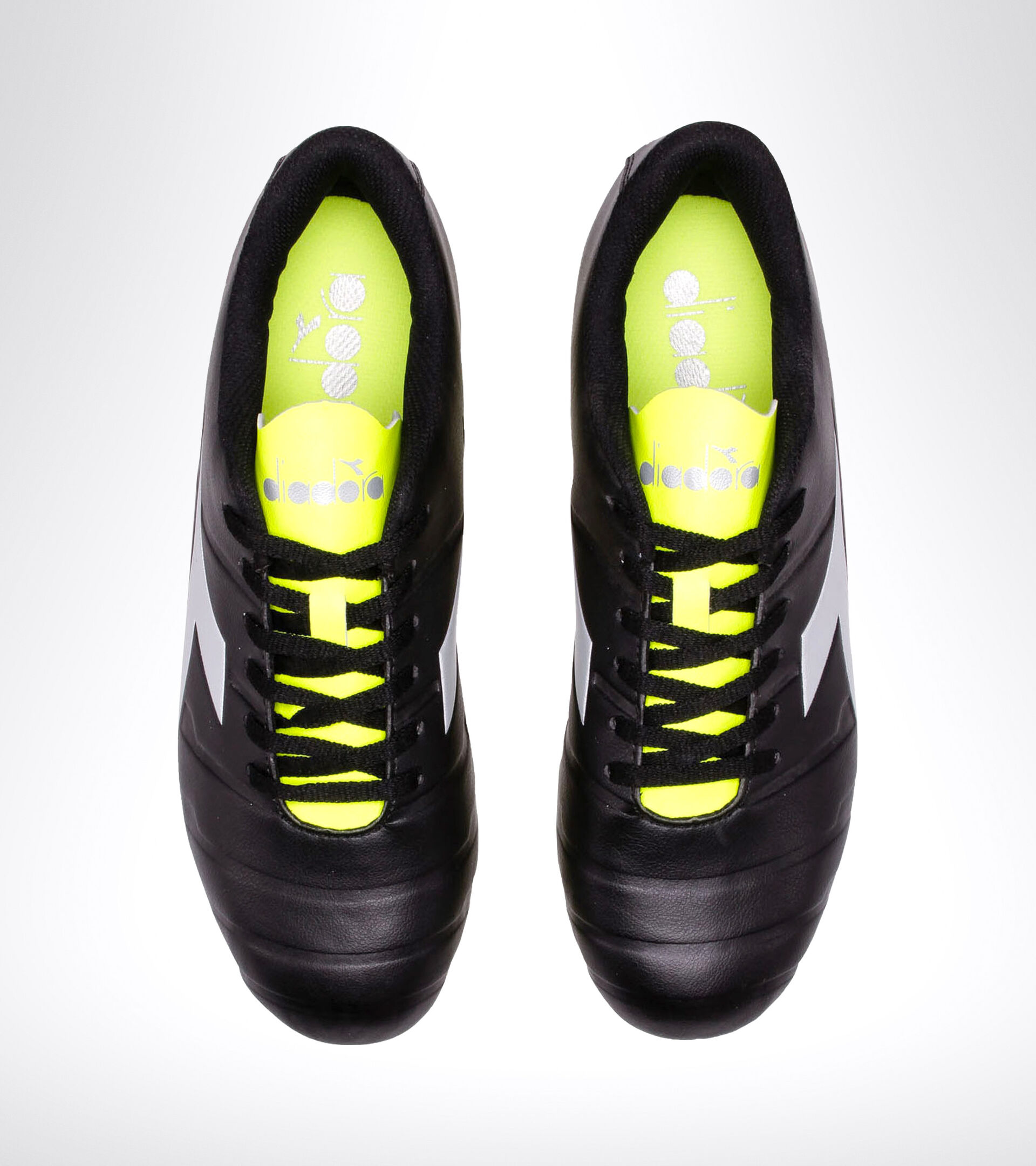 Firm ground football boot PICHICHI 3 MG14 BLACK/YELLOW FL DD/SILVER - Diadora