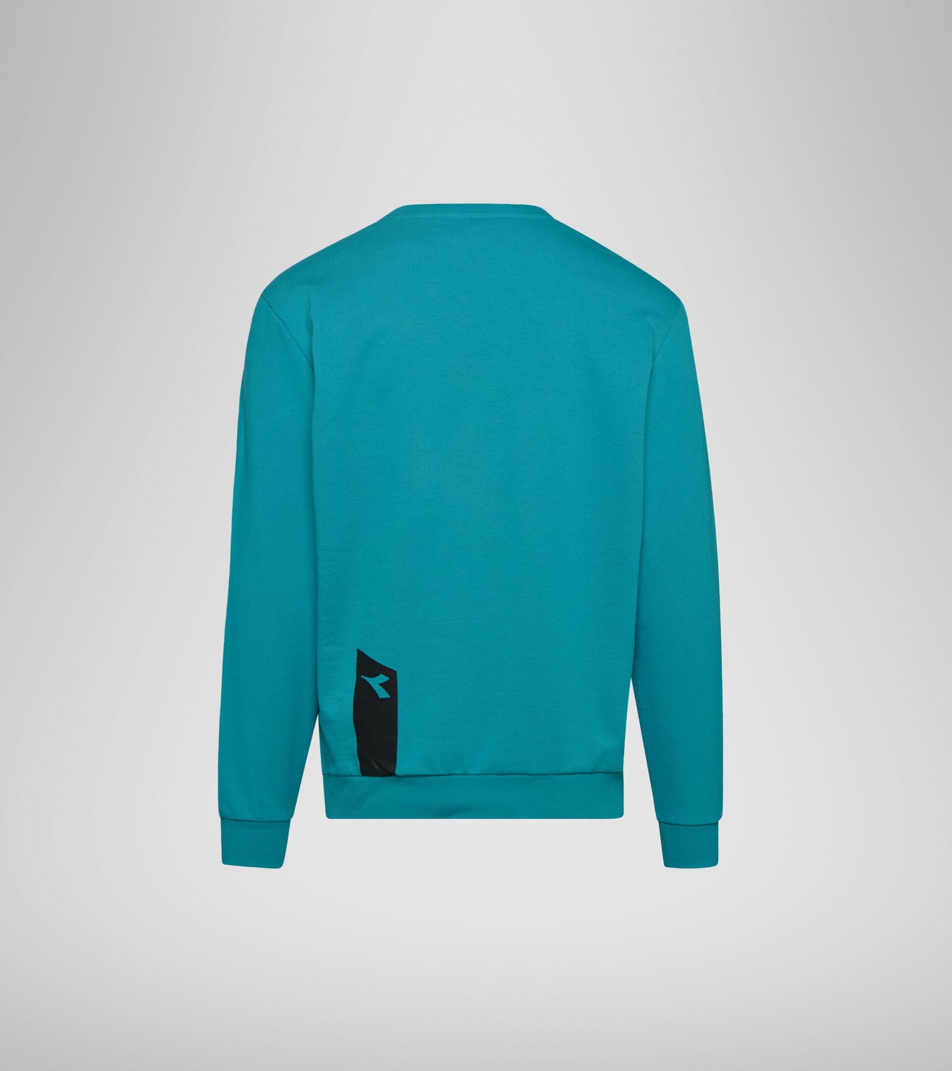 Apparel Sportswear UOMO SWEATSHIRT CREW ICON VERDE ACQUA Diadora