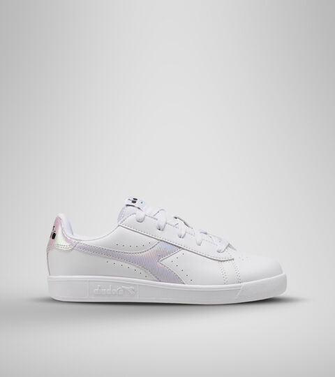 Sports shoes - Youth 8-16 years GAME P GS GIRL WHITE/ORCHID BLOOM - Diadora