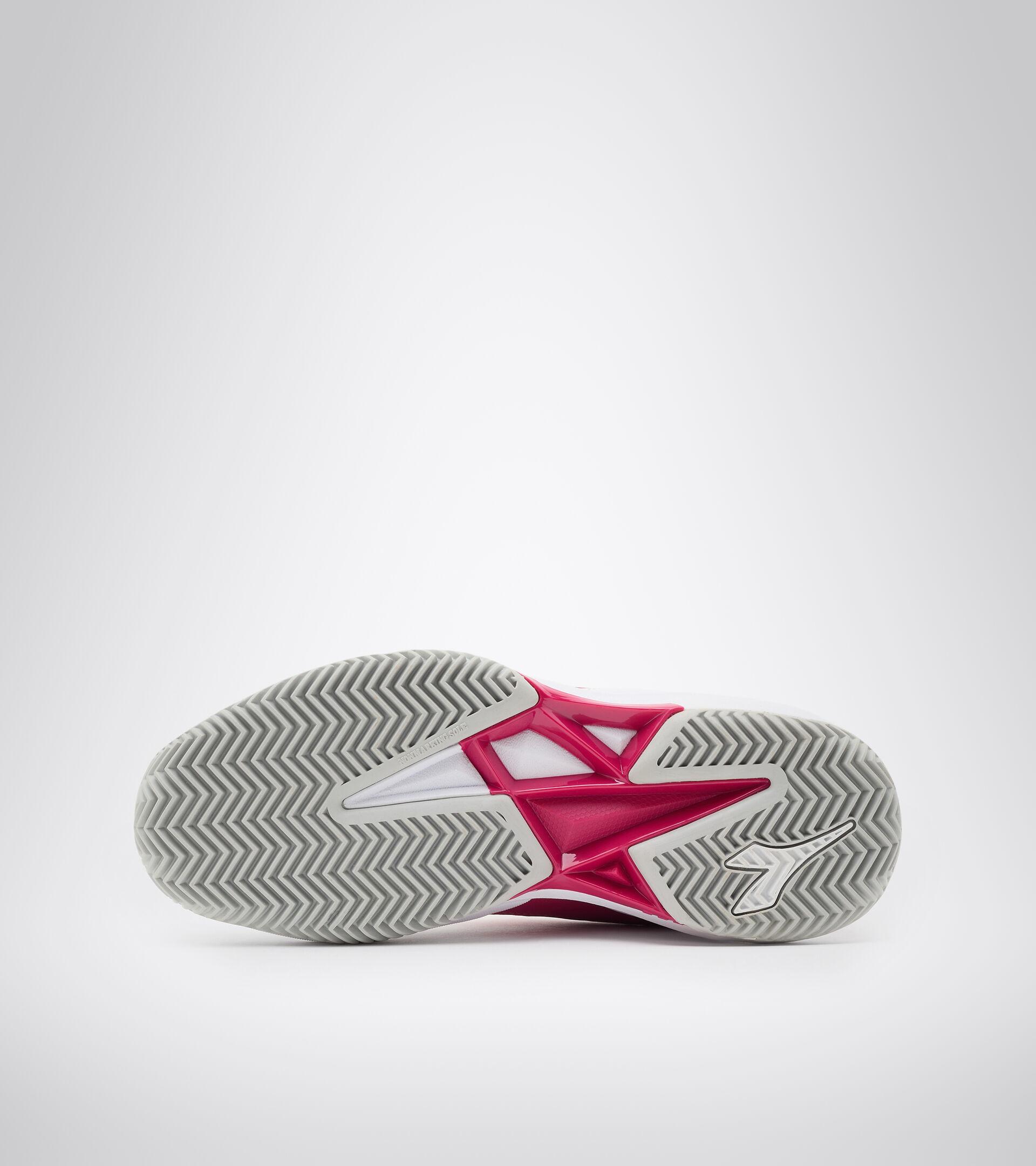 Chaussures de tennis pour terrains en terre battue - Femme S. CHALLENGE 3 W SL CLAY BLANC/ROSE BOYANT - Diadora