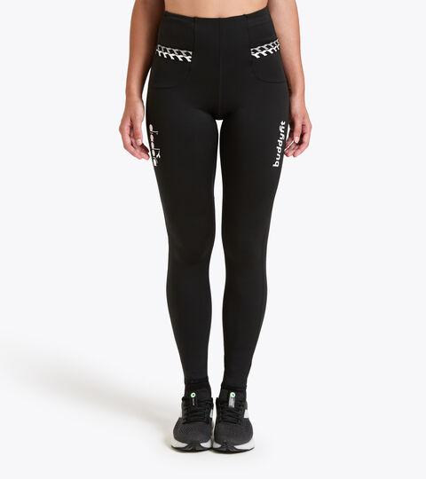 Leggings de running - Femme L. HW RUNNING TIGHTS BUDDYFIT NOIR - Diadora
