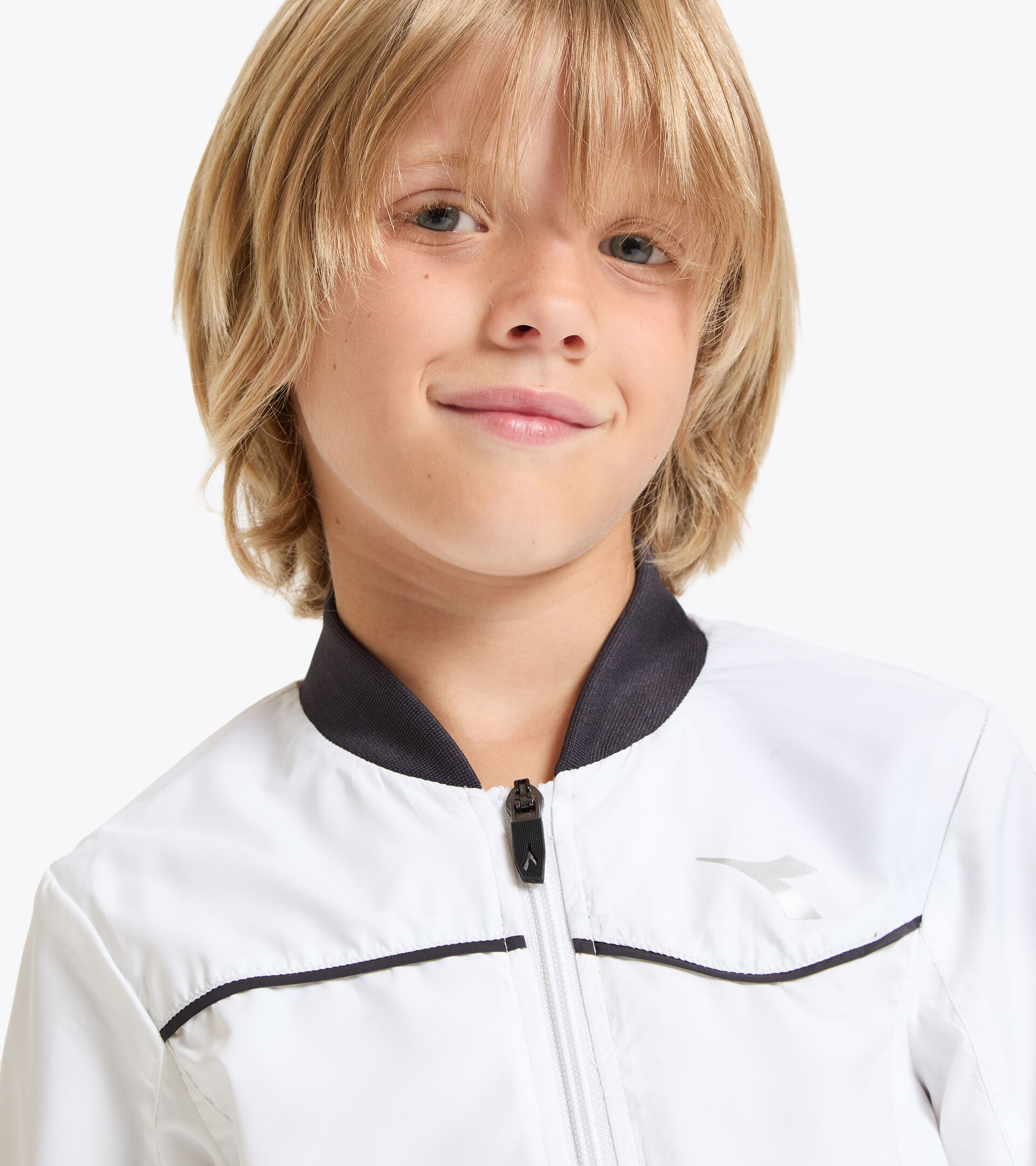 Tennisjacke - Junior J. JACKET COURT STRAHLEND WEISSE - Diadora