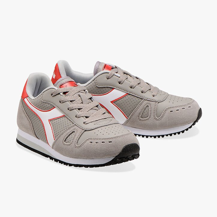 SIMPLE RUN UP GS, ASH/WHITE, large