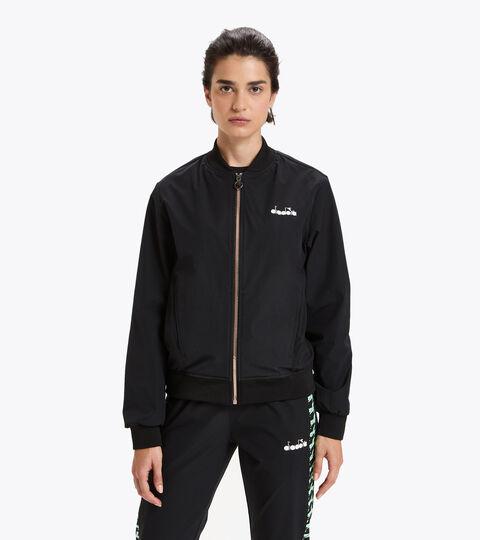 Tennis jacket - Women L. FZ JACKET CHALLENGE BLACK - Diadora