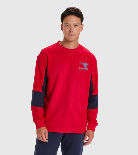 Sweater mit Rundhalsausschnitt - Herren SWEATSHIRT CREW SHIELD TANGOROT - Diadora