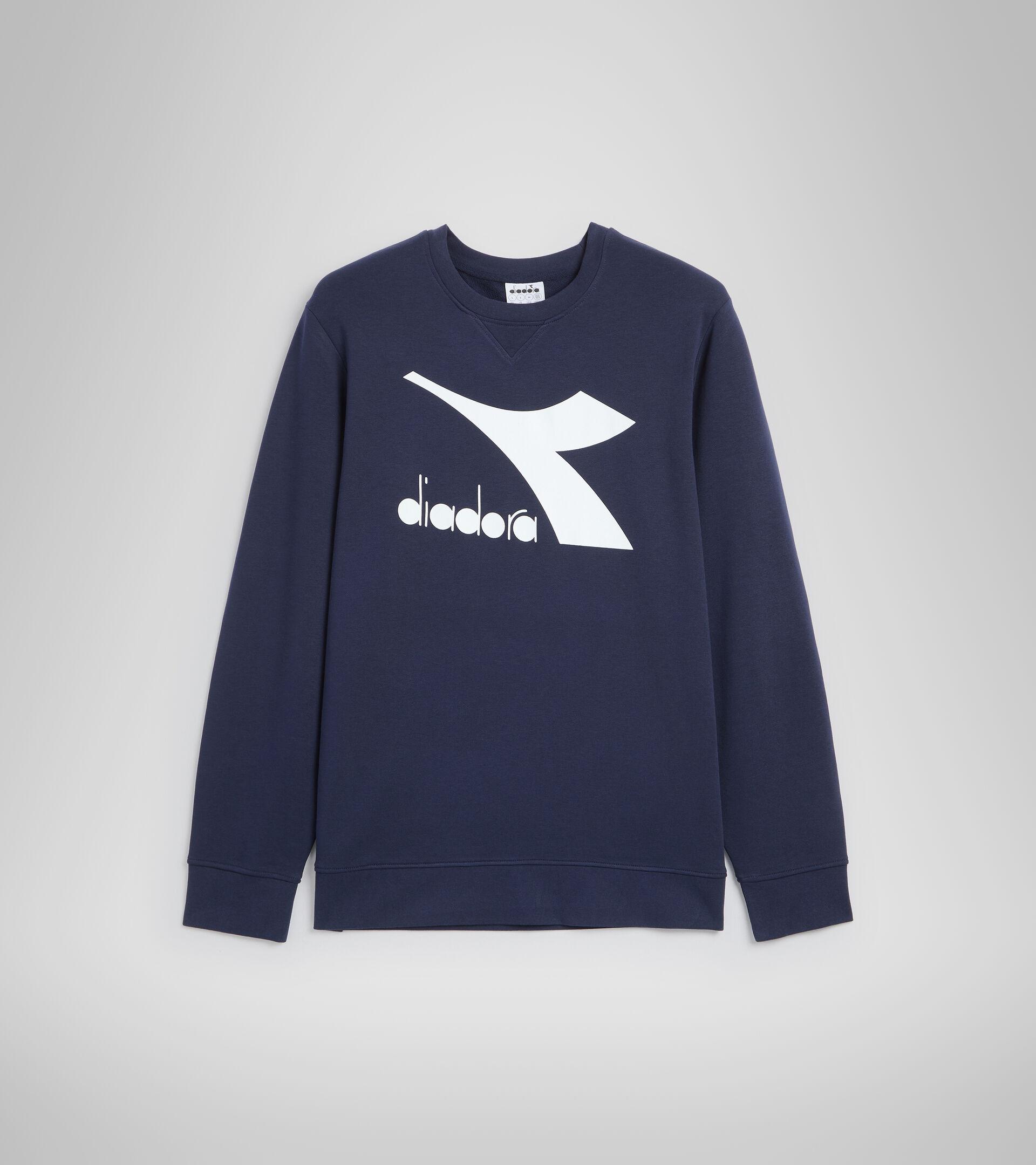 Sweater mit Rundhalsausschnitt - Herren SWEATSHIRT CREW LOGO CHROMIA CABAN BLAU - Diadora