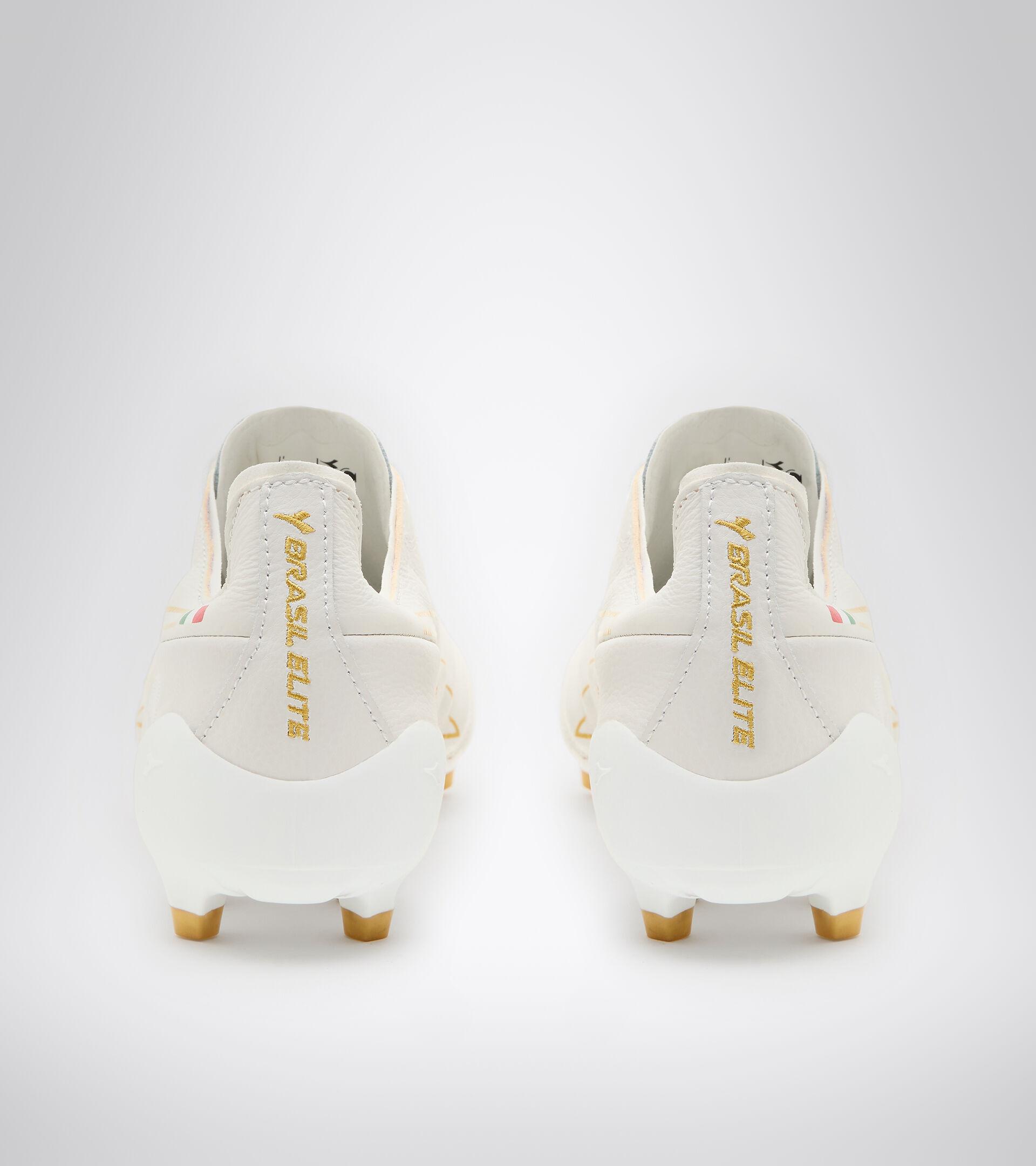 """Made in Italy"" football shoe - ideal for firm ground BRASIL ELITE TECH ITA LPX WHITE/GOLD - Diadora"
