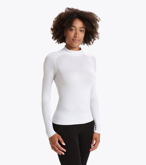 Long-sleeved training t-shirt - Women L. TURTLE NECK ACT OPTICAL WHITE - Diadora