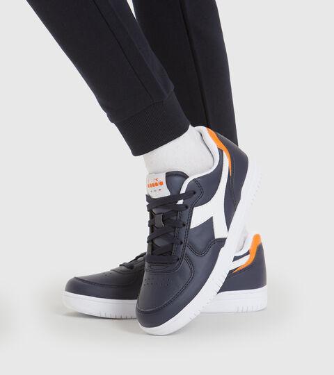Footwear Sport BAMBINO RAPTOR LOW GS BLU CORSARO/BIANCO Diadora