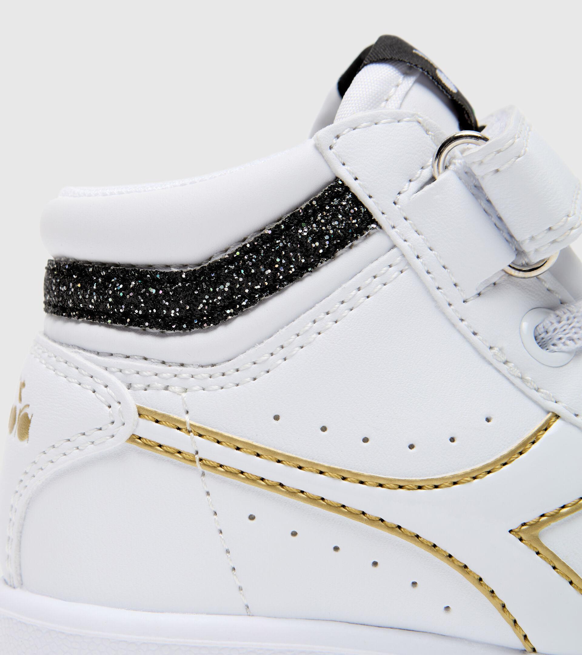 Footwear Sport BAMBINO GAME P HIGH GIRL TD BIANCO/NERO/ORO Diadora