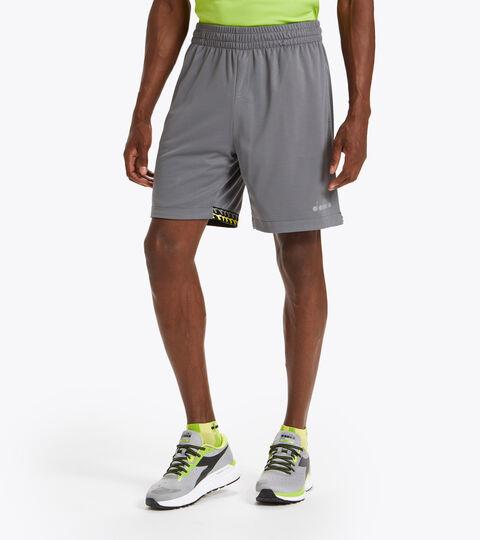 Double-face running shorts - Men BERMUDA REVERSIBLE BE ONE STEEL GRAY - Diadora
