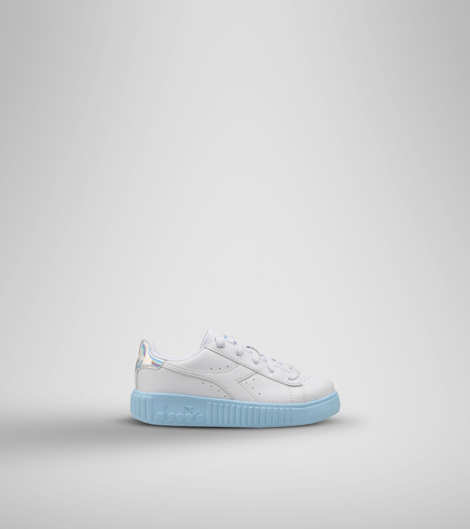 Footwear Sport BAMBINO GAME STEP PS WHITE /SKY-BLUE Diadora
