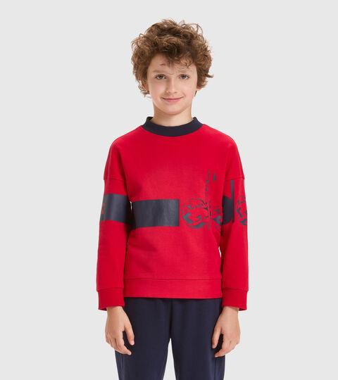 Sweat-shirt ras-du-cou - Garçon JB.SWEATSHIRT CREW HOOPLA ROUGE TANGO - Diadora
