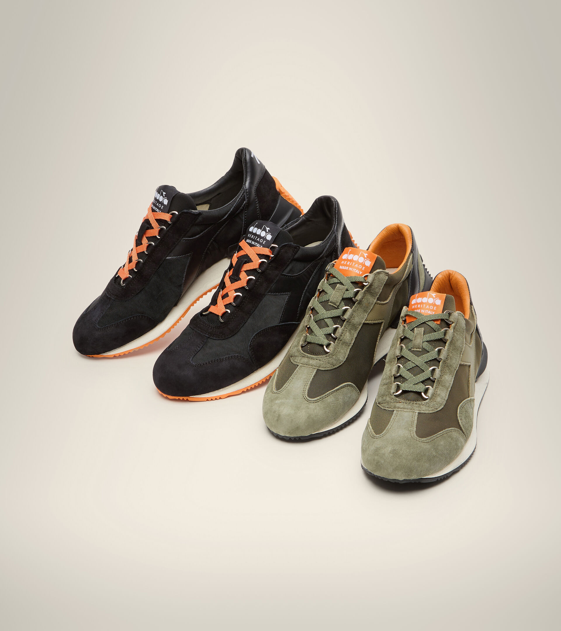 Footwear Heritage UNISEX EQUIPE MAD ITALIA NUBUCK SW BLACK Diadora