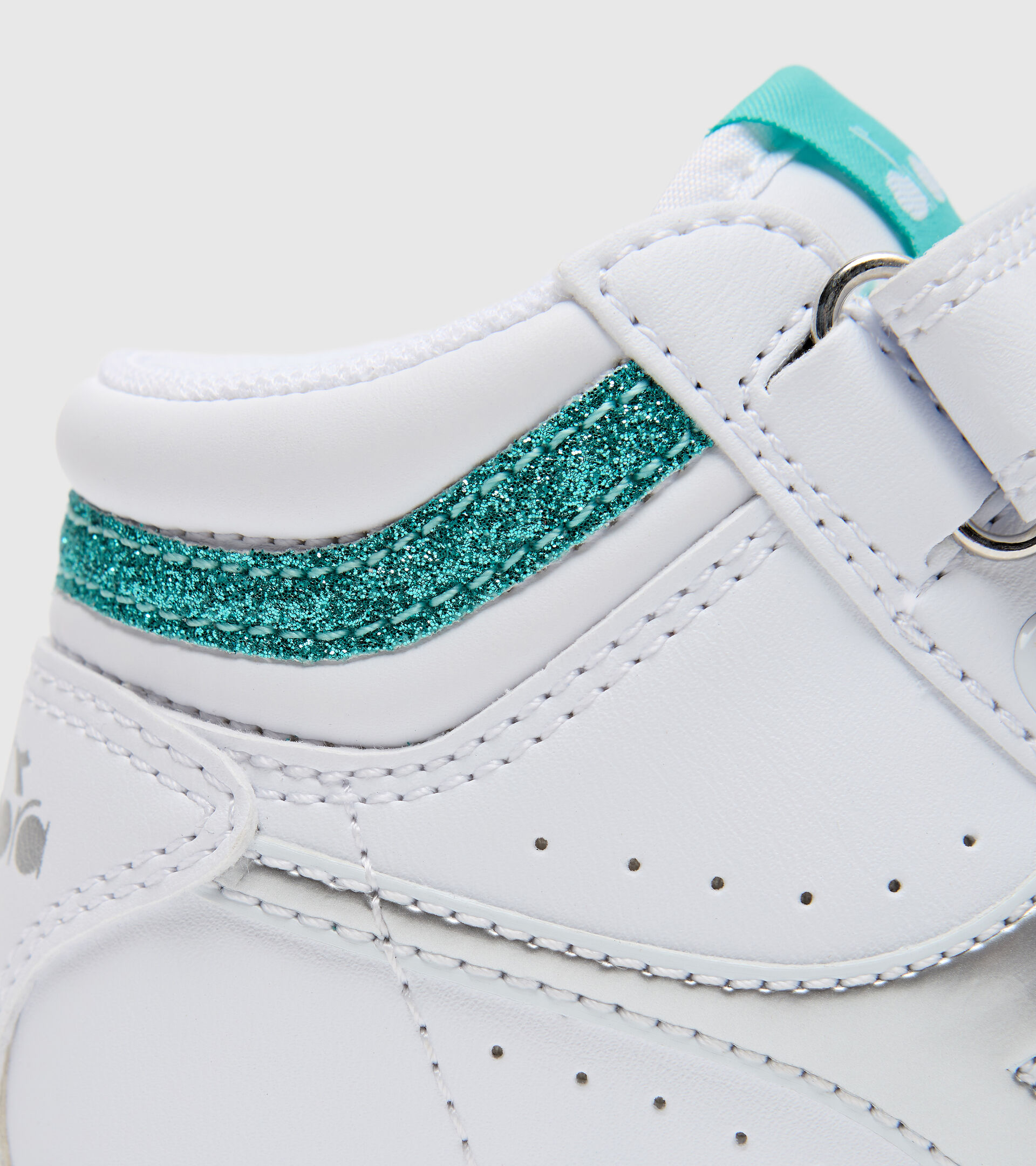 Footwear Sport BAMBINO GAME P HIGH GIRL TD BIANCO/AZZURRO TURCHESE Diadora