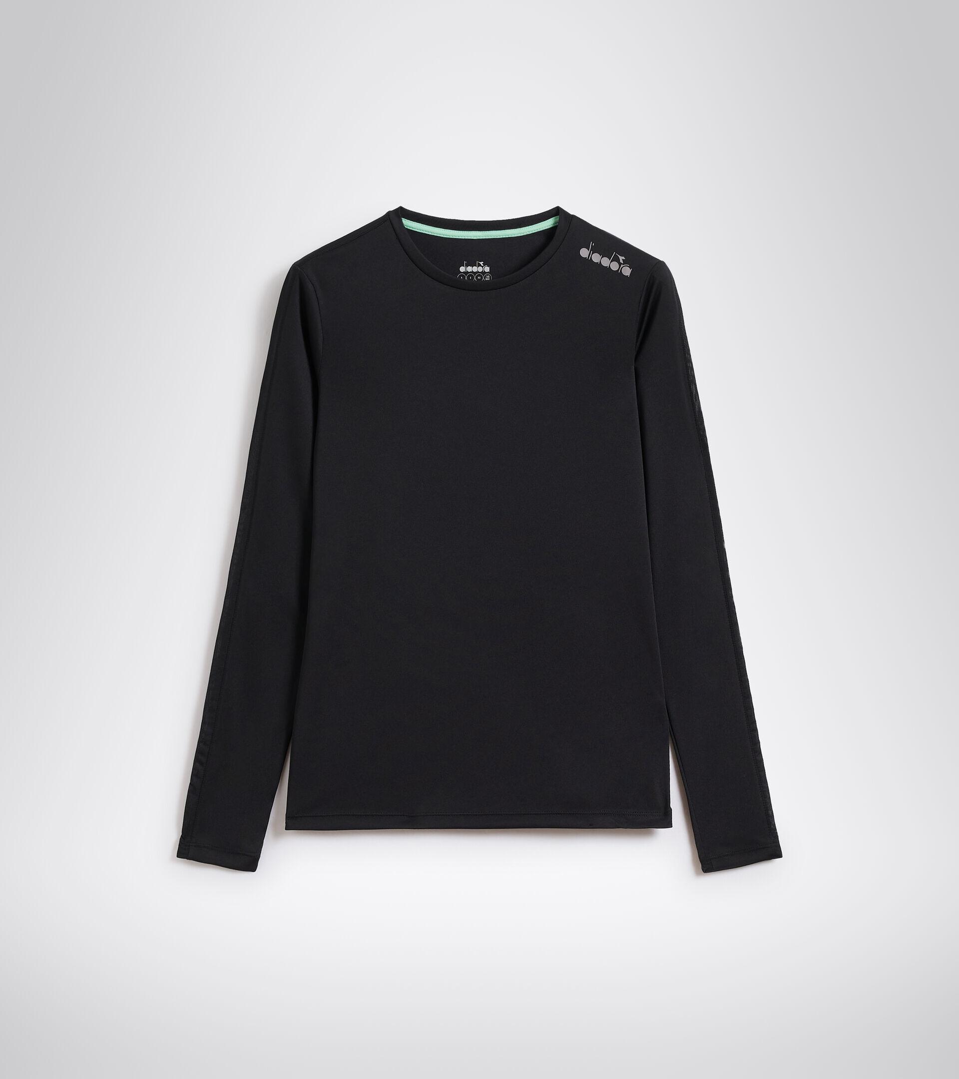 Lauf-T-Shirt - Damen L. LS CORE TEE SCHWARZ - Diadora
