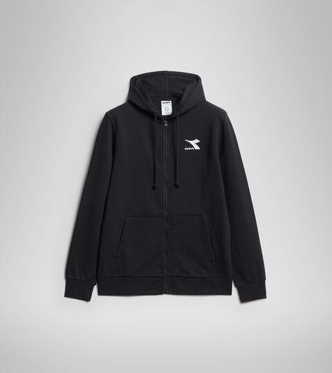 Hooded sweatshirt - Men HOODIE FZ CORE BLACK - Diadora