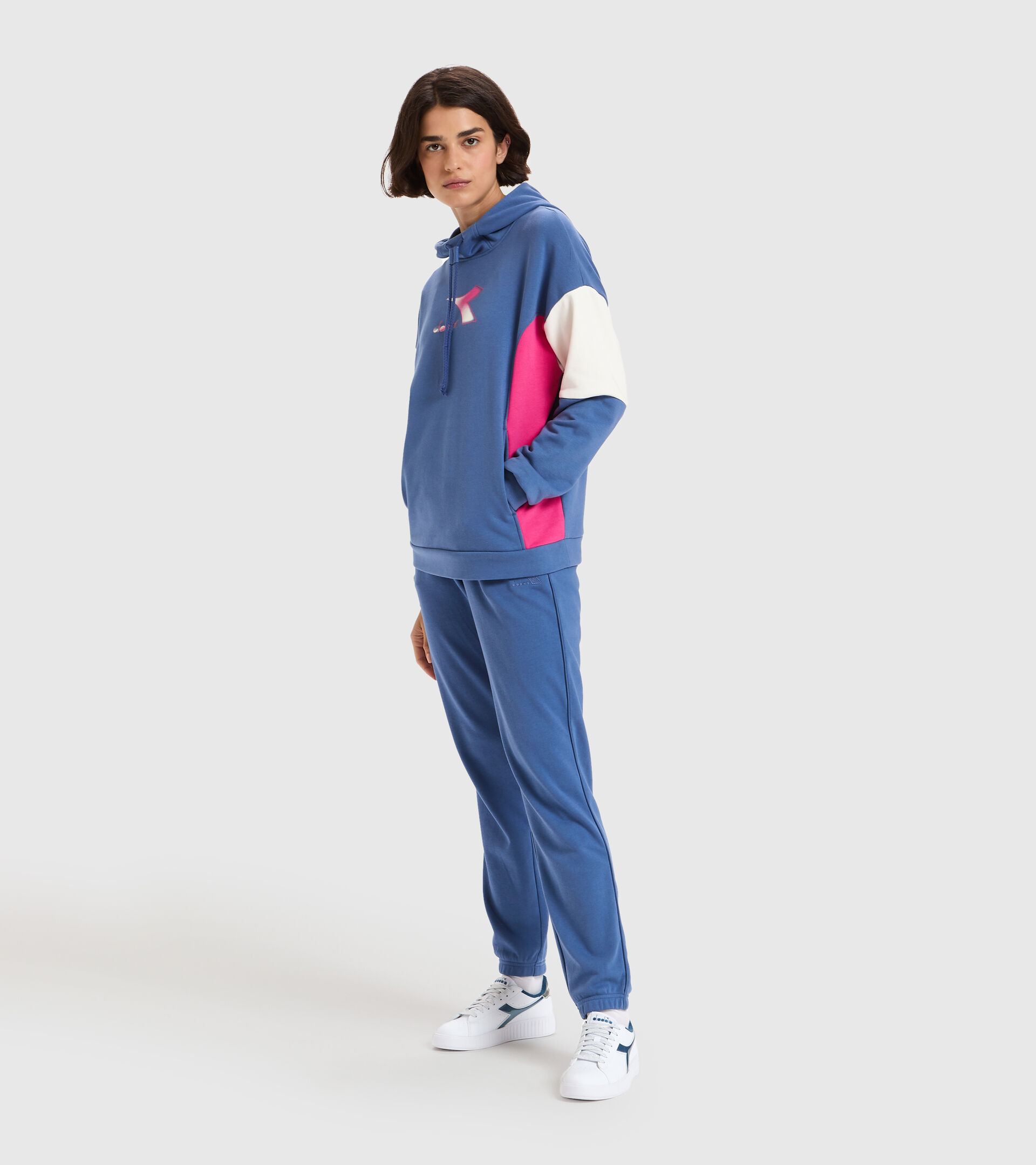 Hooded sweatshirt - Women L.HOODIE LUSH BIJOU BLUE - Diadora