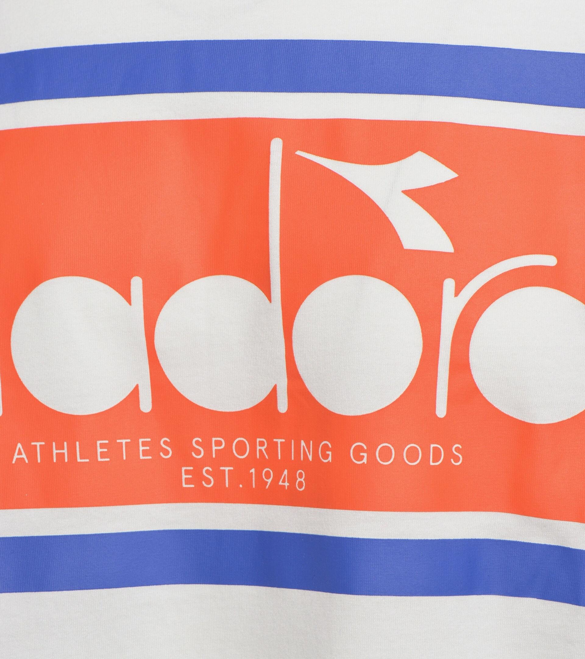 Apparel Sportswear UOMO SS T-SHIRT SPECTRA OC ORANGEADE/WHITE MILK Diadora