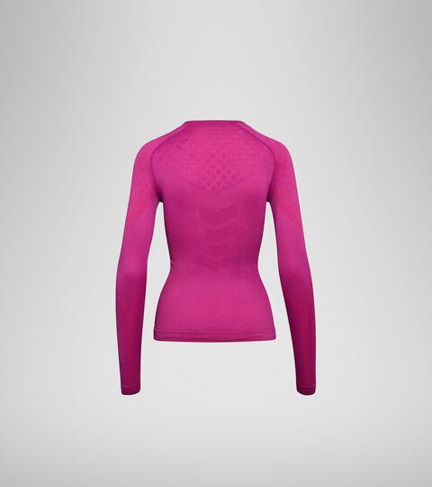 Long-sleeved training t-shirt - Women L. LS T-SHIRT ACT VIOLET RASPBERRY - Diadora