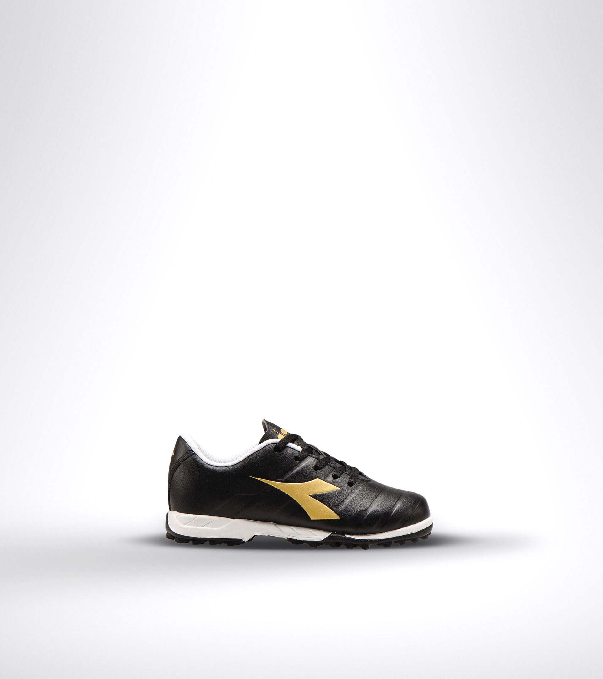 Hard ground and artificial turf football boot - Unisex kids PICHICHI 3 TF JR BLACK/WHITE/GOLD - Diadora
