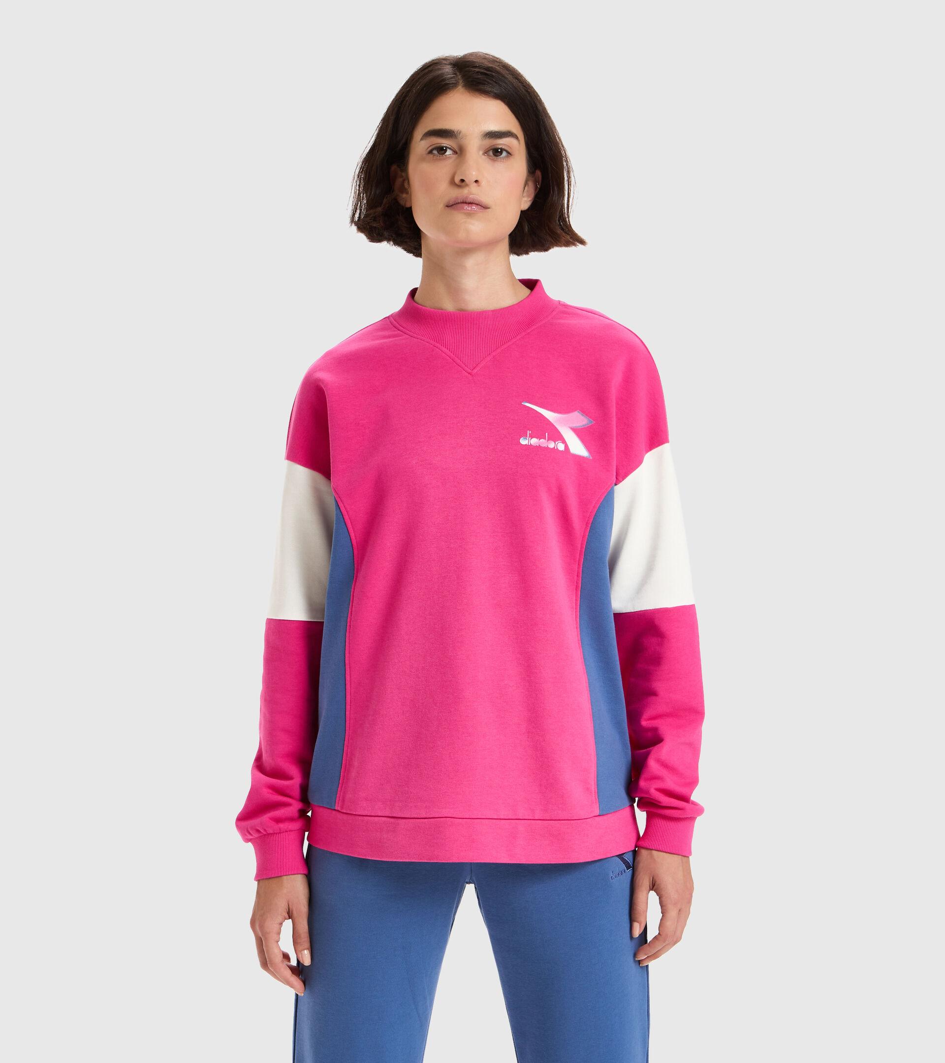 Apparel Sport DONNA L.SWEATSHIRT CREW LUSH MAGENTA Diadora