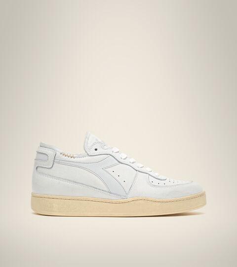 Footwear Heritage UNISEX MI BASKET ROW CUT WEISS/MORGEN BLAU Diadora