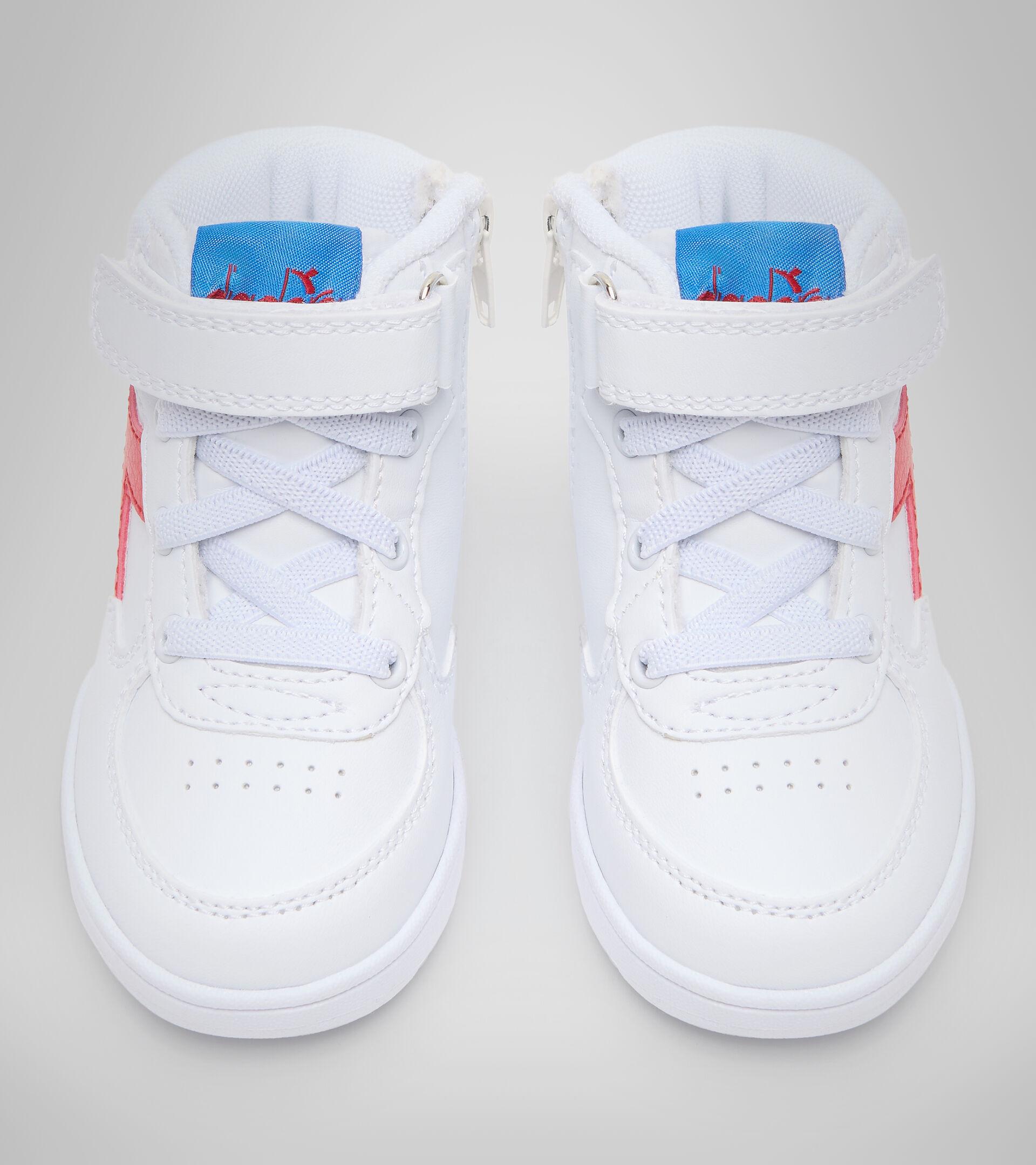 Footwear Sport BAMBINO RAPTOR MID TD WHITE/TOMATO RED Diadora