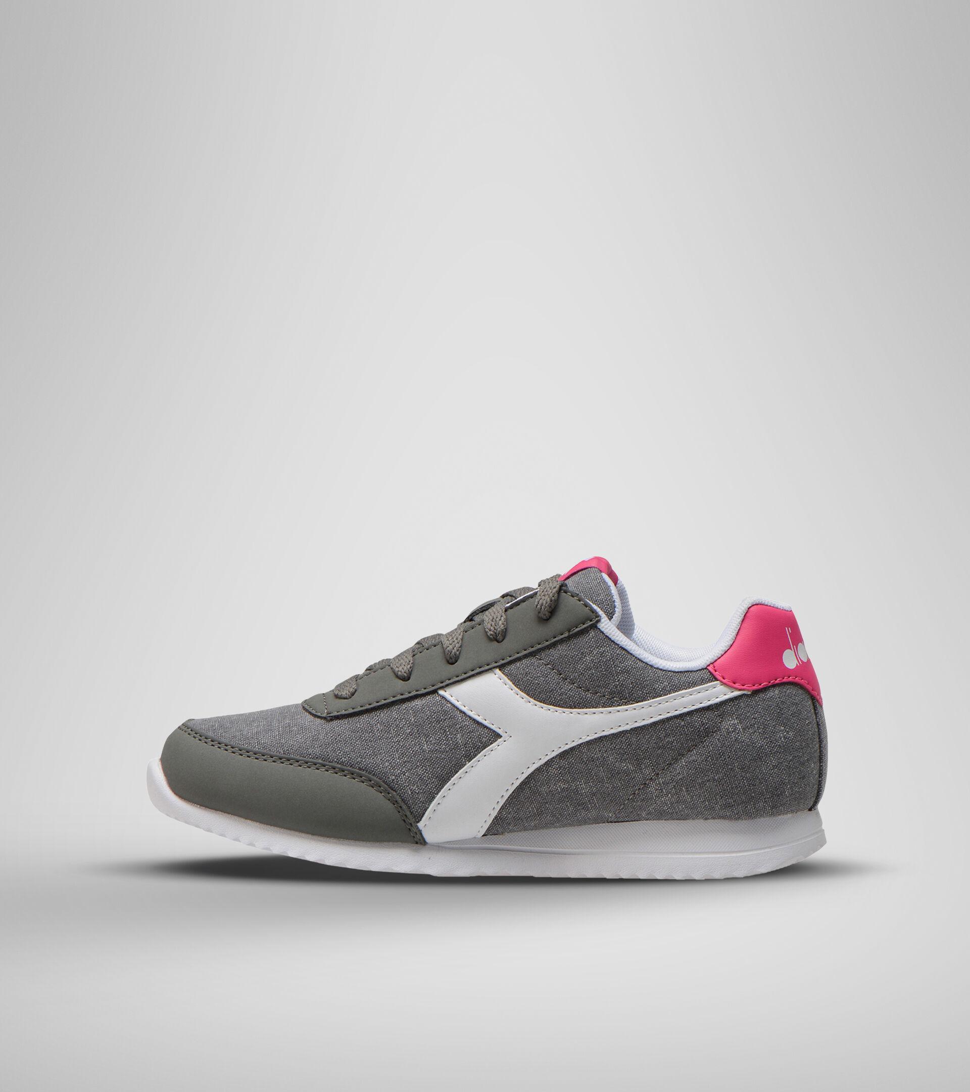 Footwear Sport BAMBINO JOG LIGHT GS GRIS CARBON/FANDANGO ROSA Diadora