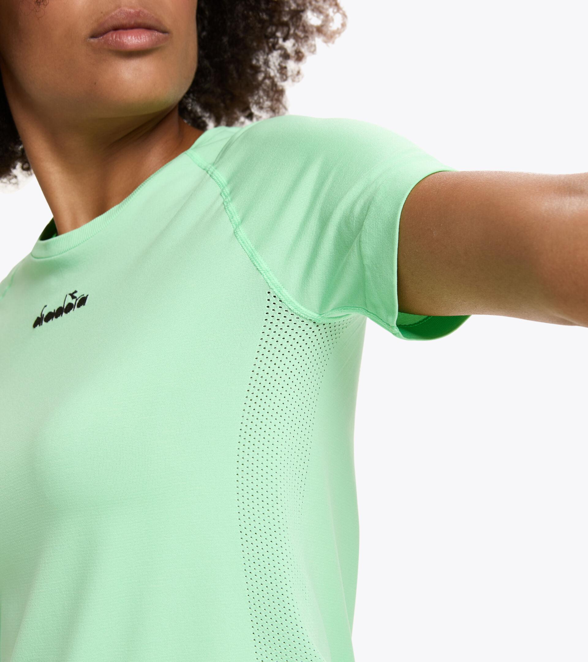 Running-T-Shirt Made in Italy - Damen L. SS SKIN FRIENDLY T-SHIRT ESCHE GRUN - Diadora