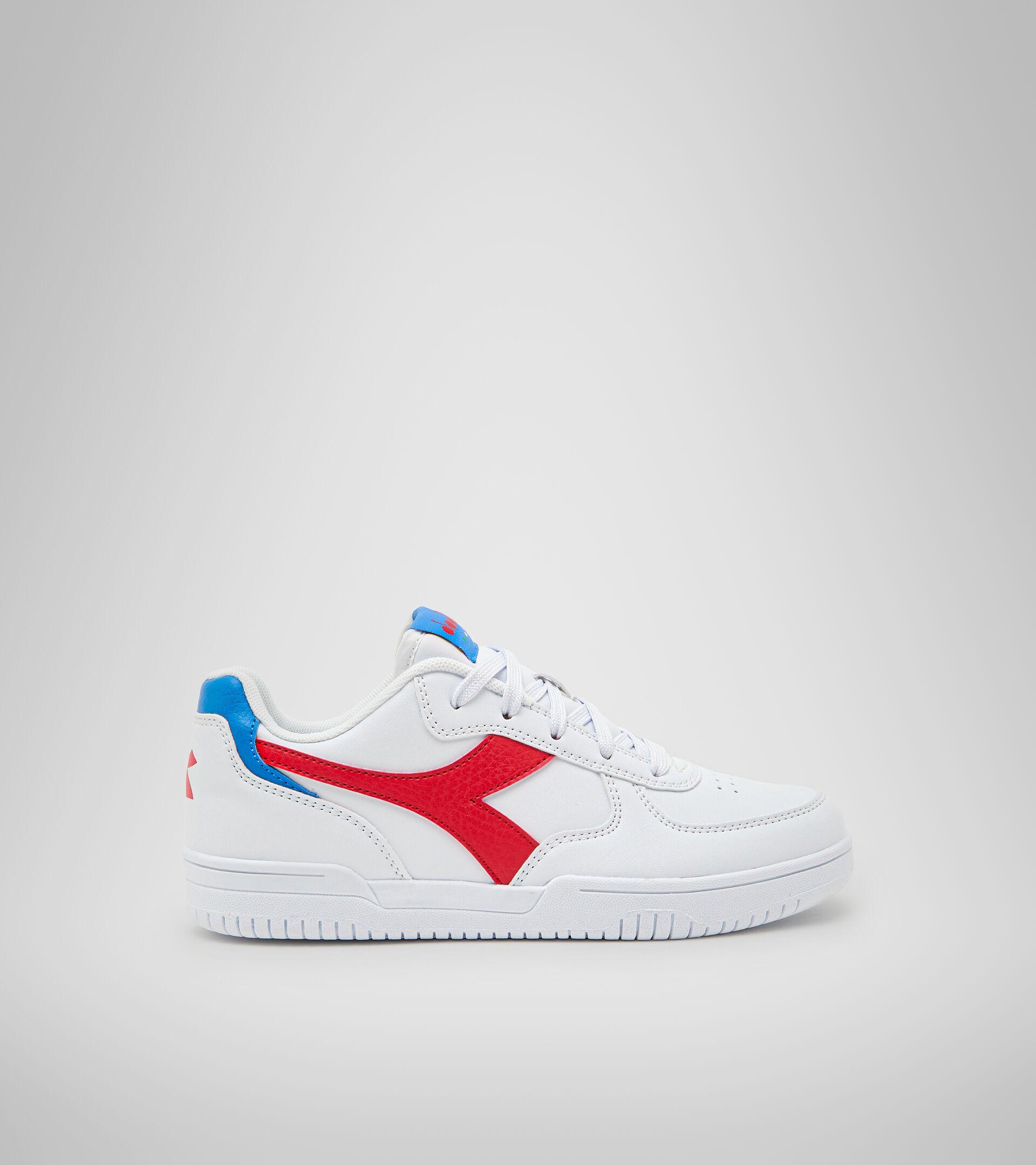 Footwear Sport BAMBINO RAPTOR LOW GS WHITE/TOMATO RED Diadora