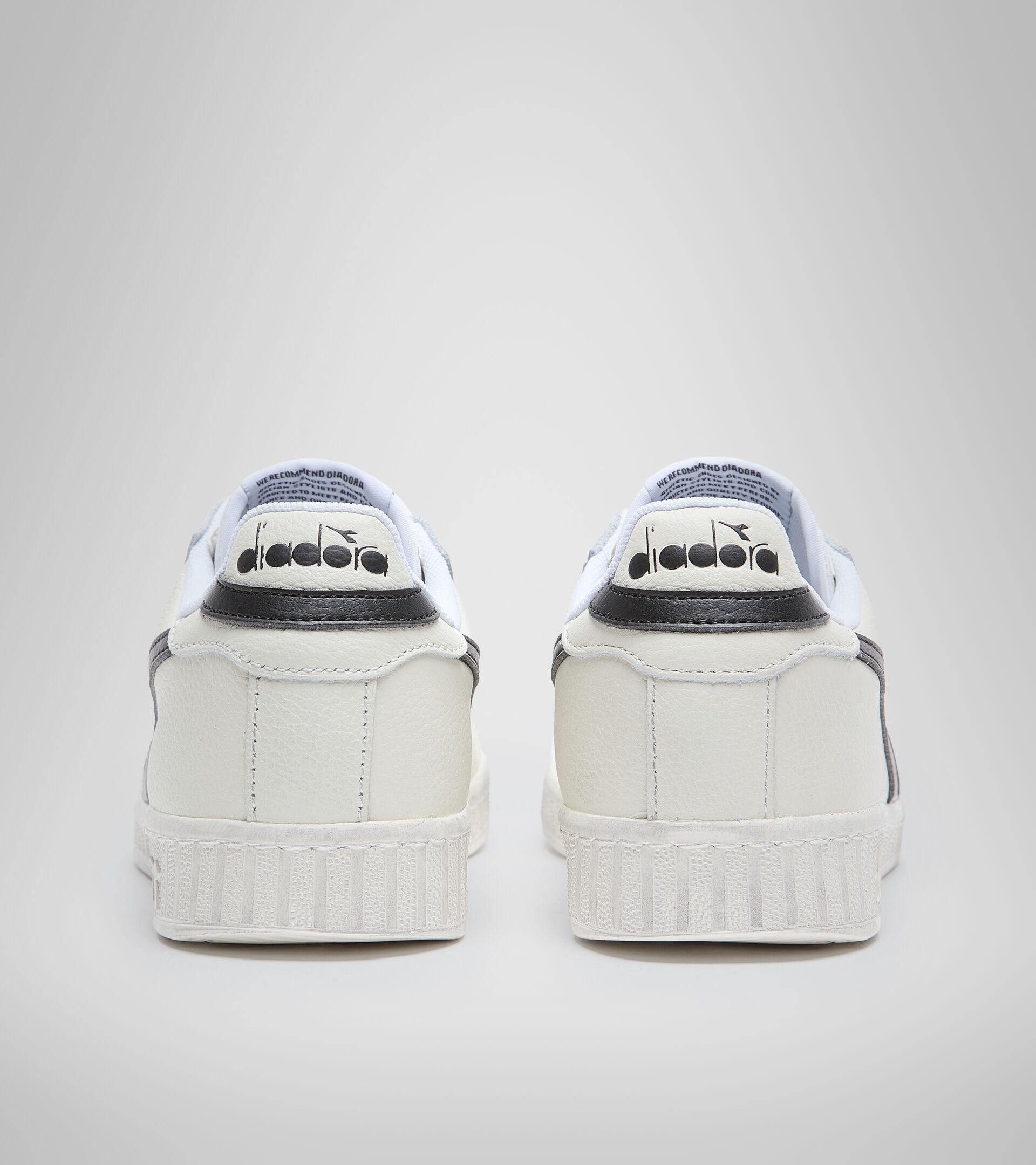 Sneaker - Unisex GAME L LOW WAXED WEISS/SCHWARZ - Diadora