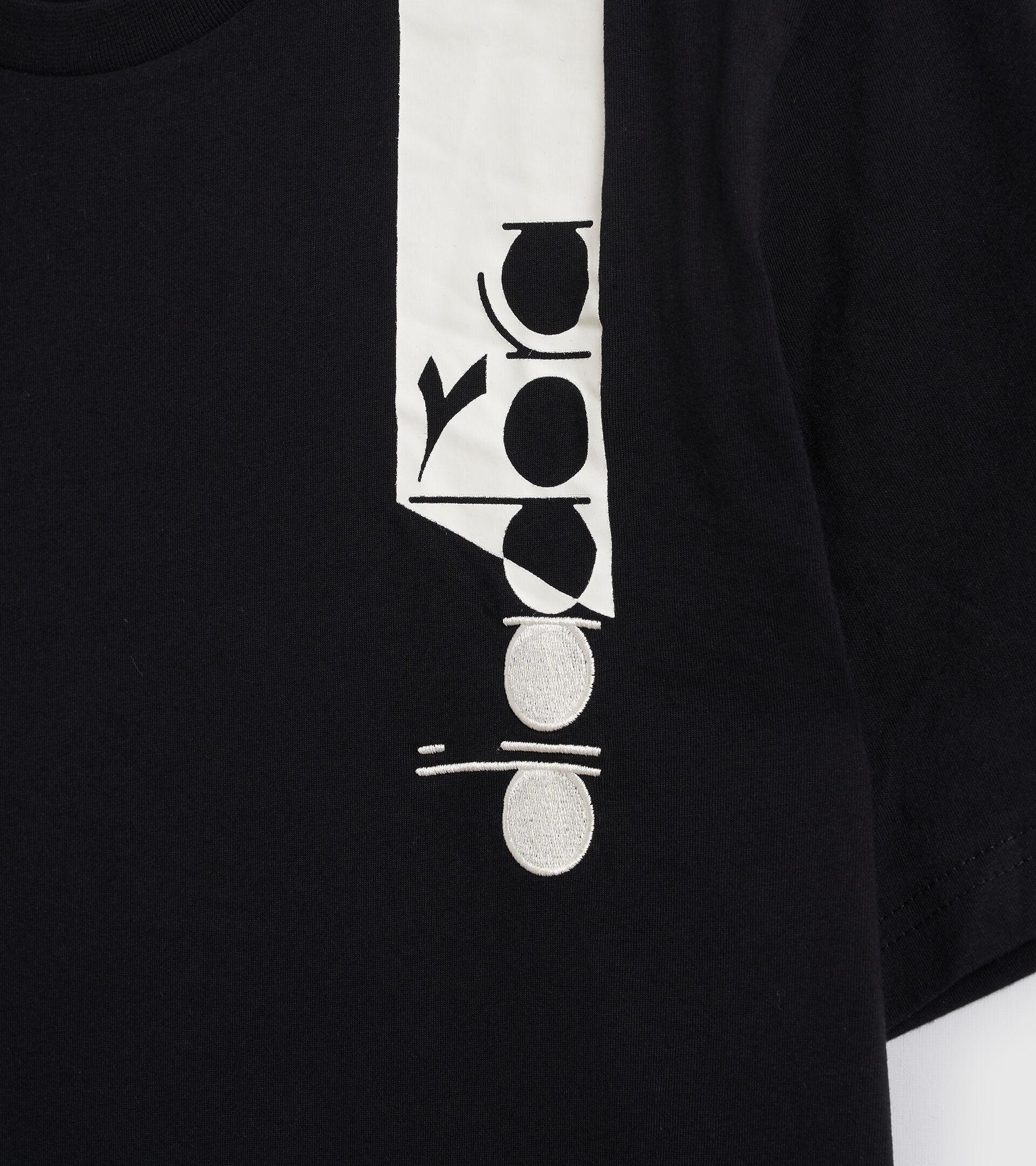 T-shirt - Unisex T-SHIRT SS ICON NEUN EISEN/WEISS/BLAU FLUO - Diadora