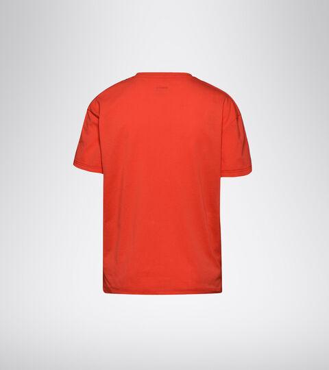 T-shirt da training - Donna  L. SS T-SHIRT PLUS BE ONE ROSSO IBISCO VIVO - Diadora