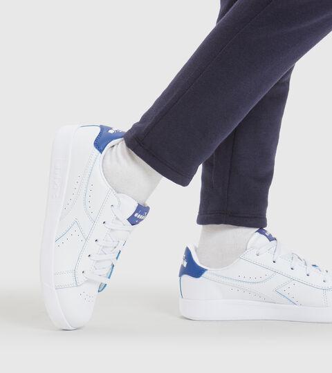 Sports shoes - Youth 8-16 years GAME P SMASH GS WHITE/BLUE EYES - Diadora