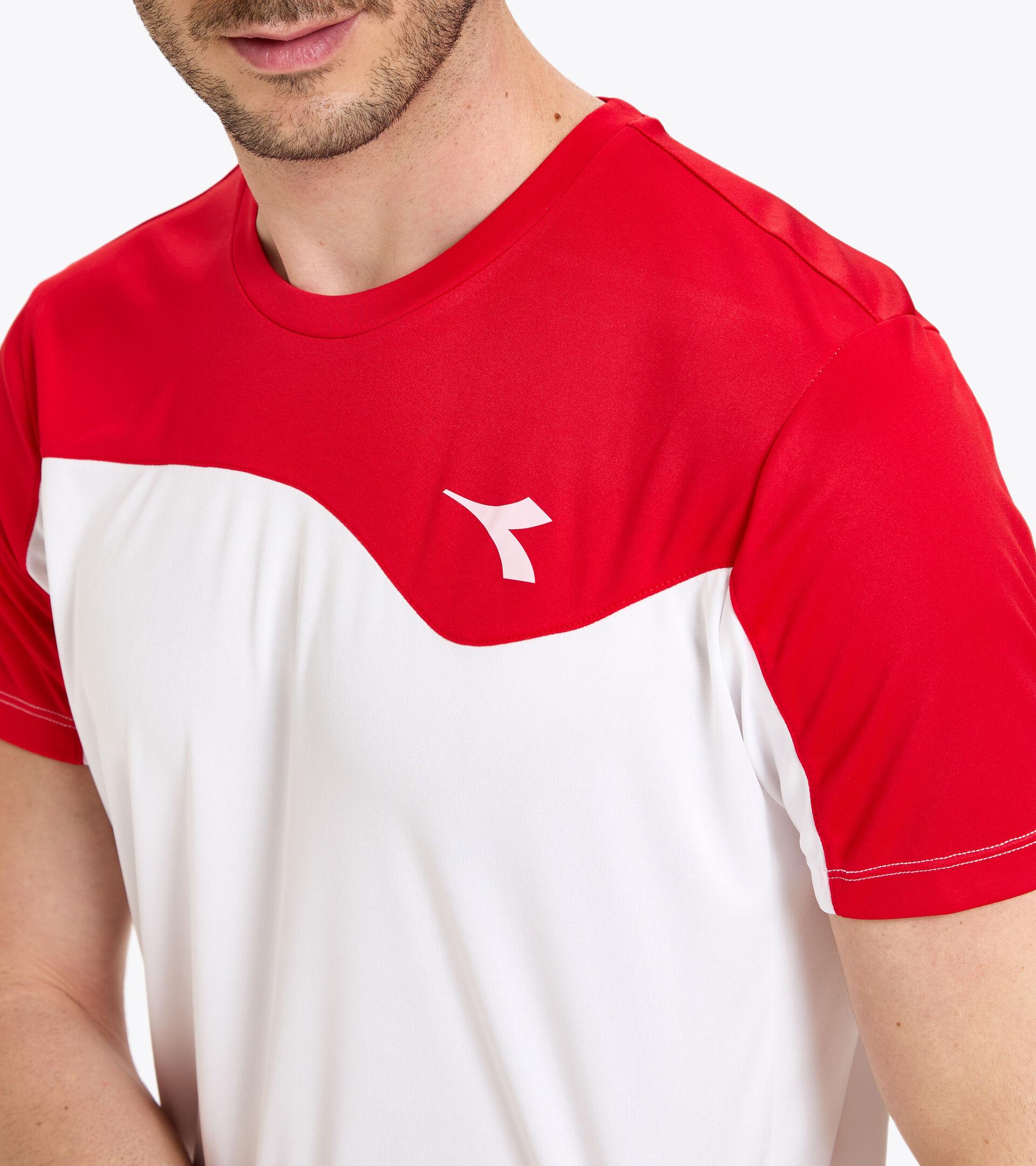 Apparel Sport UOMO T-SHIRT TEAM ROJO TOMATE Diadora